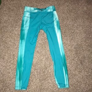 Under Armour Pants - Under Armour tealish whitish workout pants 😋